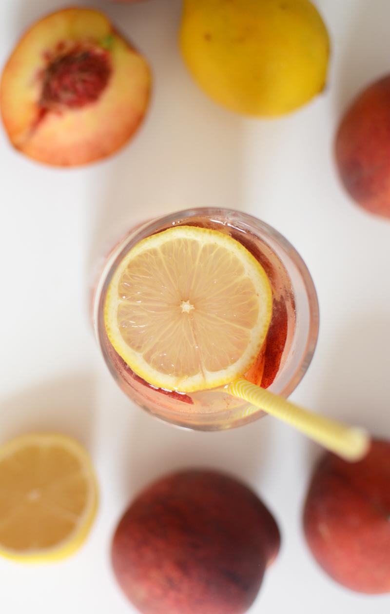 Pfirsich-Gin Drink | we love handmade