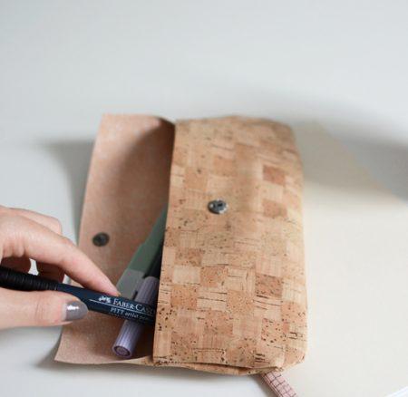 DIY: Federpenal aus Kork