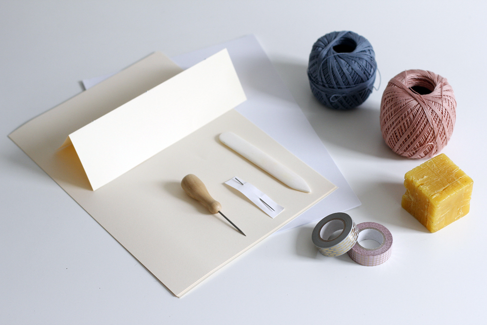 Notizhefte binden: Material | we love handmade