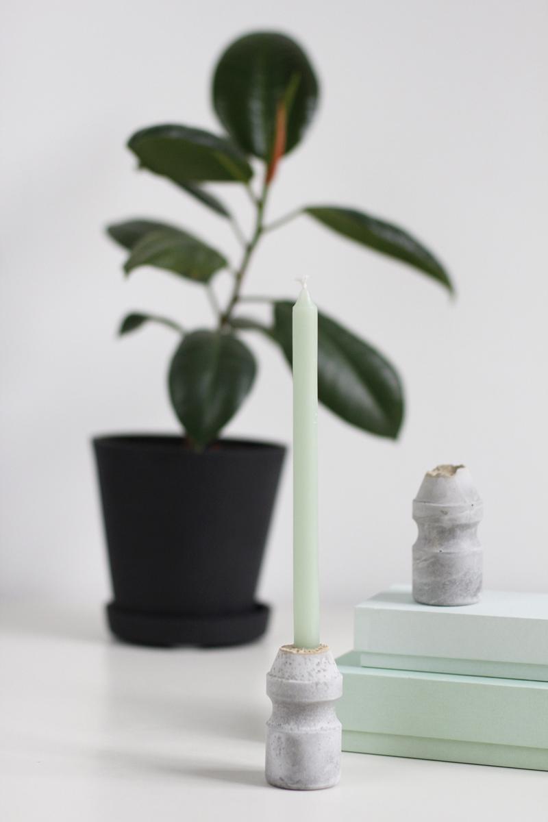Kerzenhalter aus Zement |we love handmade