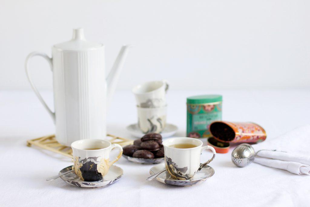marmoriertes Geschirr   we love handmade