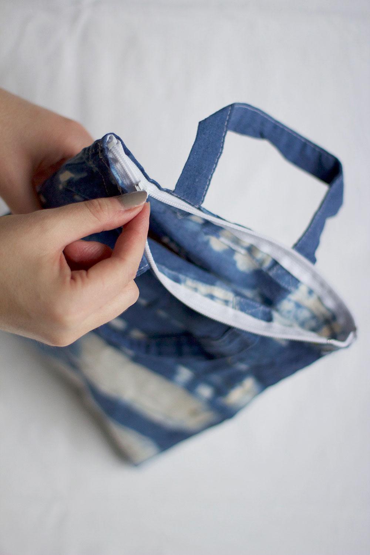 shibori-tasche nähen | we love handmade