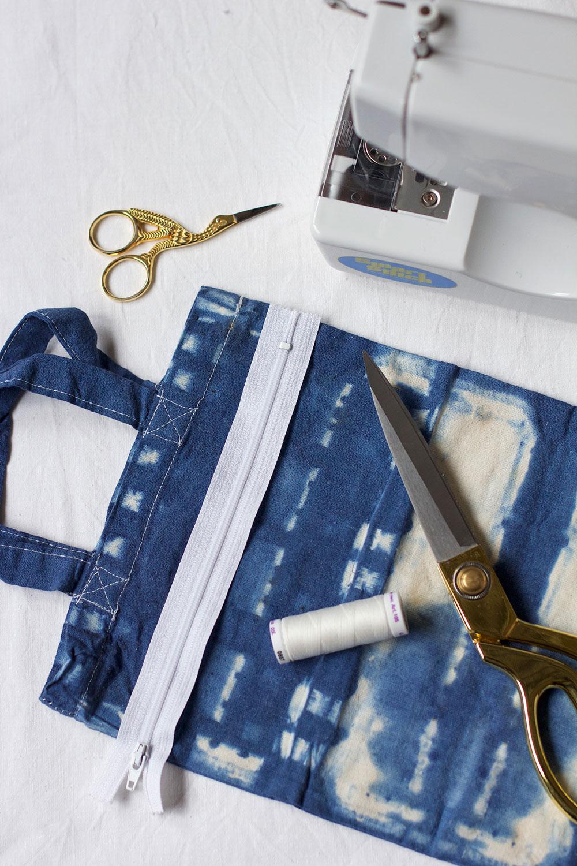 Shibori-Tasche nähen |we love handmade
