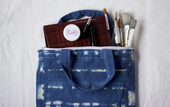 Shibori-Tasche für Utensilien | we love handmade