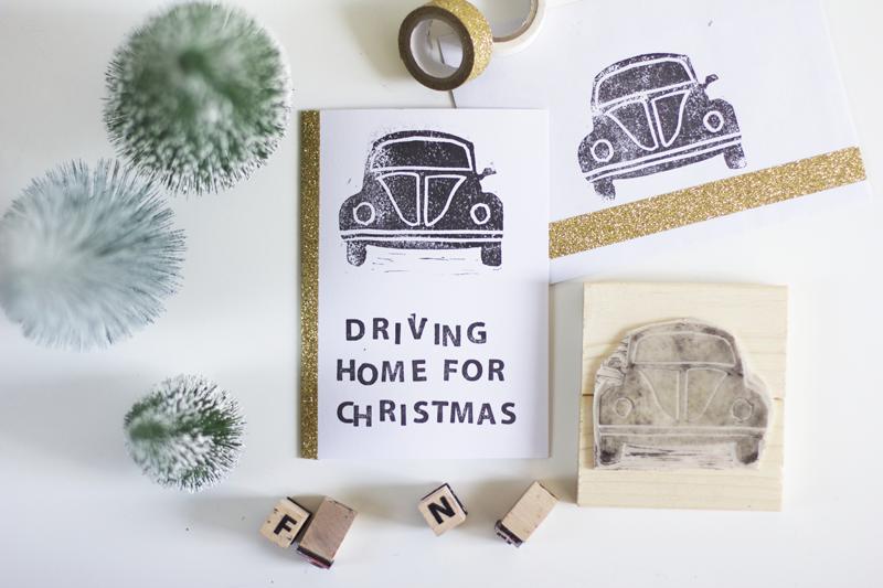 Auto-Stempel: DIY-Weihnachtskarte | we love handmade