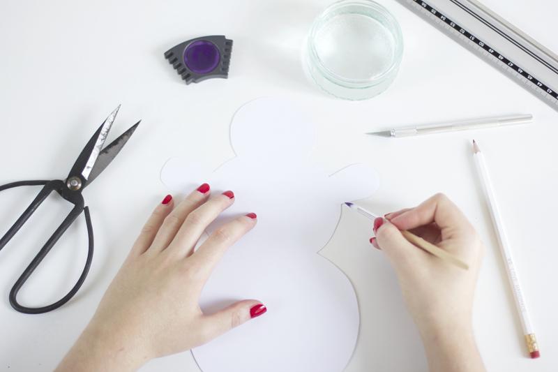 DIY: Schneeman-Tischdeko | we love handmade