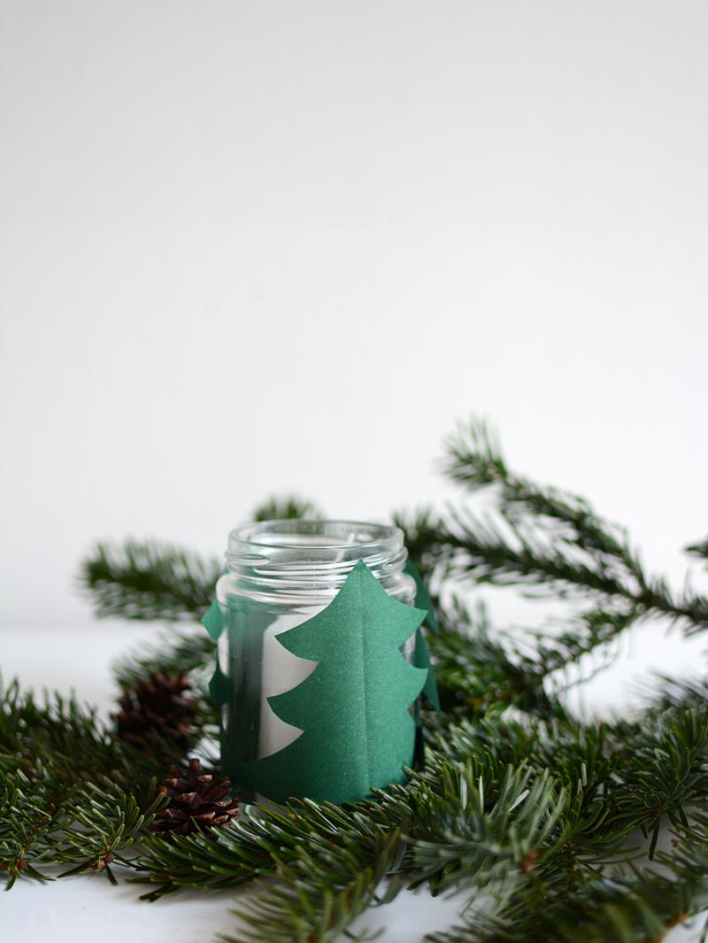 Tannenbaum-Windlicht |we love handmade