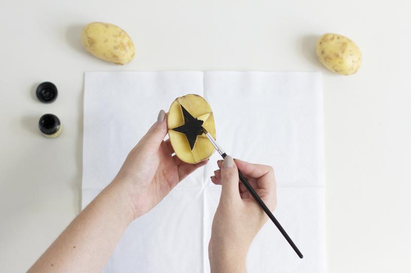 Stempel aus Kartoffeln selbermachen | we love handmade