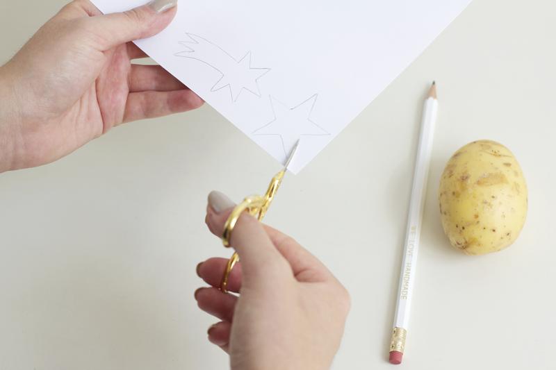 Vorlage für Kartoffeldruck ausschneiden | we love handmade