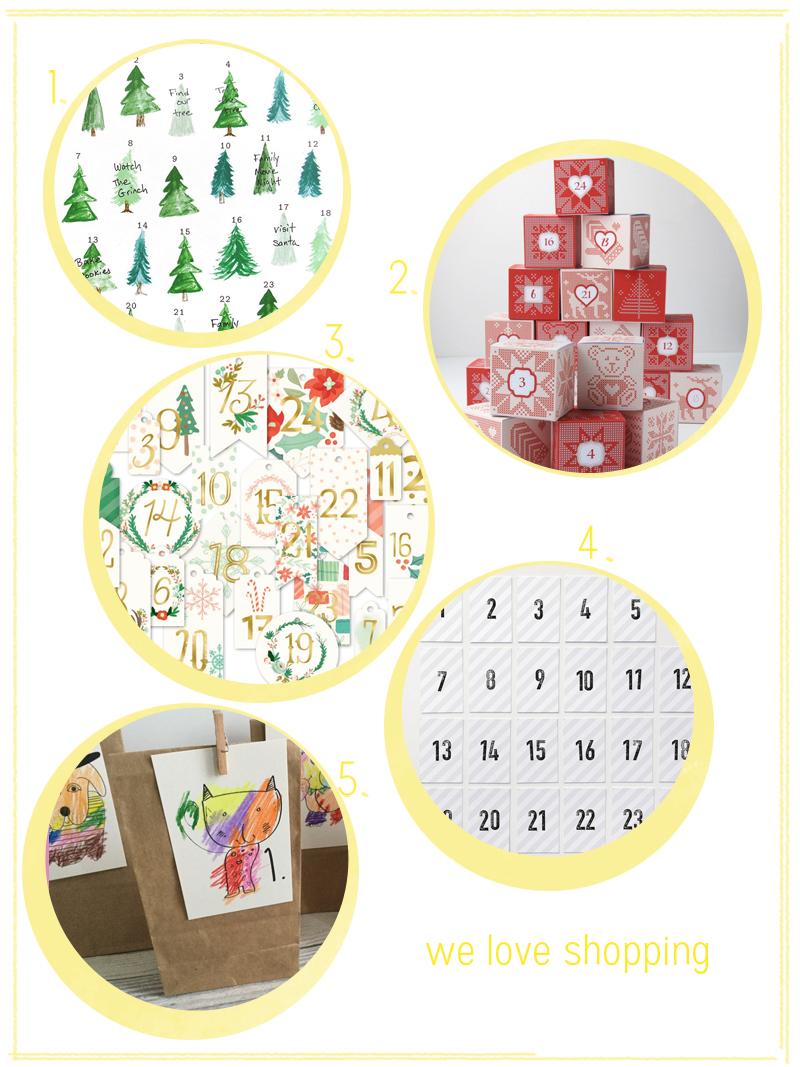 Adventkalender zum Selbermachen   we love handmade