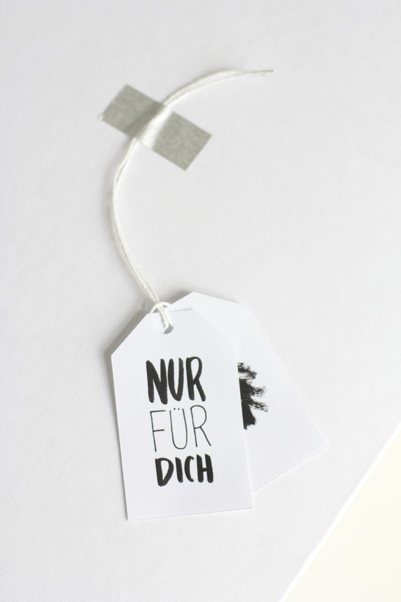Geschenkanhänger: Nur für dich | we love handmade