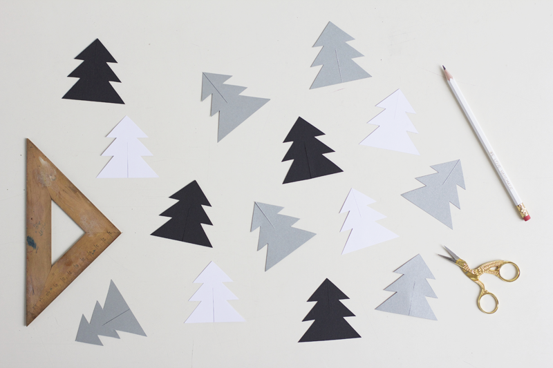 DIY: Mobile mit Tannebäumen aus Papier | we love handmade