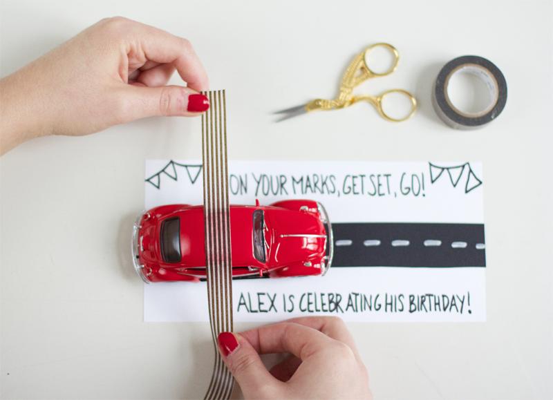 Einladung mit Modellauto |we love handmade
