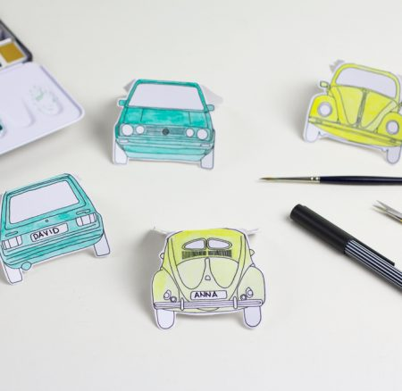DIY: Place Cards (Post sponsored by Volkswagen)