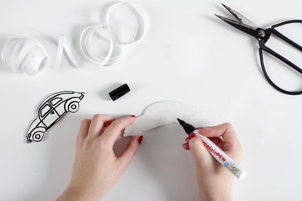 Weihnachtsschmuck-Auto Konturen zeichnen | we love handmade