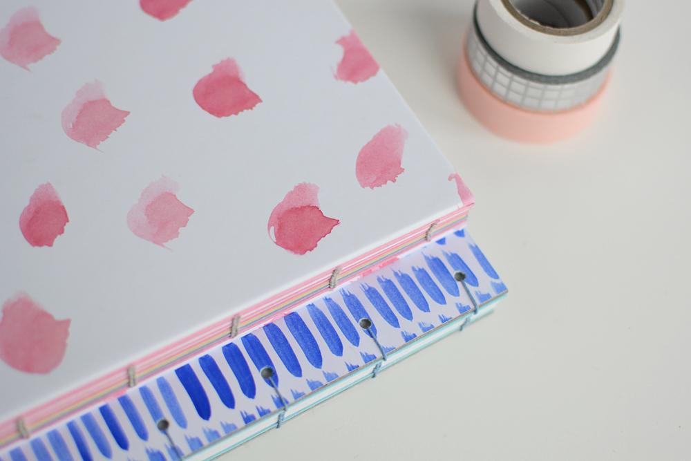 Koptische Bindung und Gestaltung von Coverpapieren