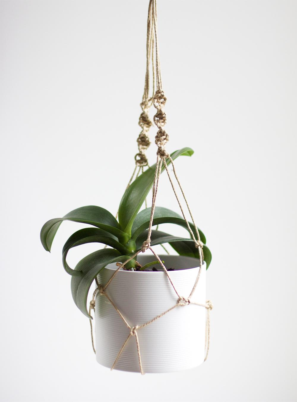 DIY: Blumenampel mit Makramee  we love handmade