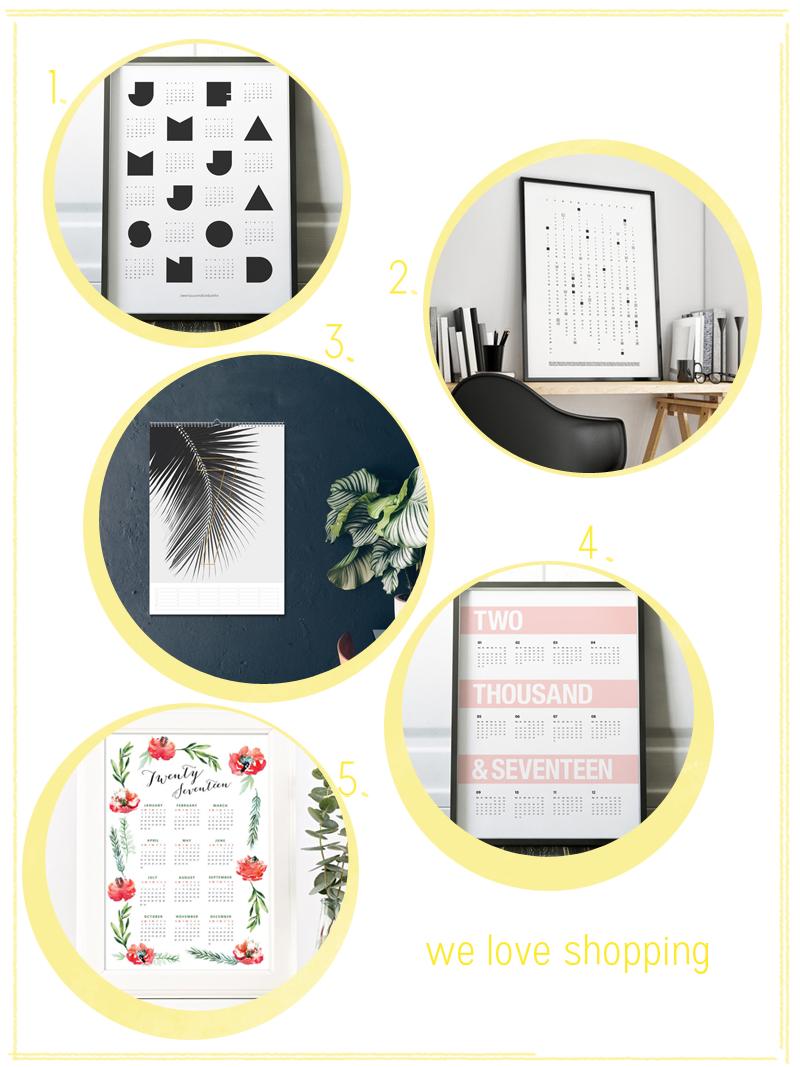 we love shopping: Wandkalender 2017 | we love handmade