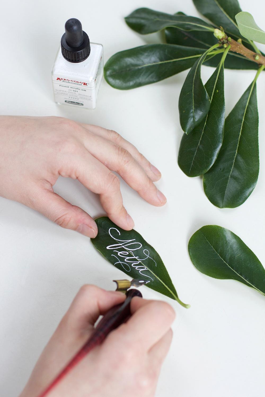 DIY: Tischkarten-Kalligraphie-Blatt | we love handmad