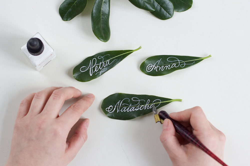 DIY: Blätter-Tischkarten |we love handmade