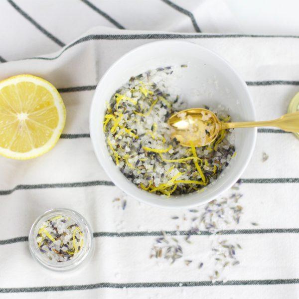 Badesalz mit Lavendel & Zitrone |we love handmade