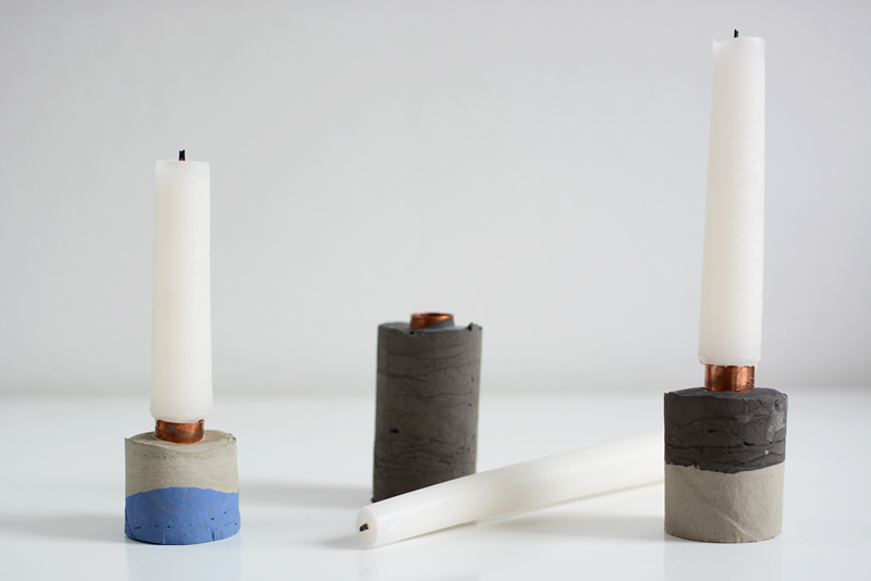Concrete-Kerzenhalter DIY | we love handmade