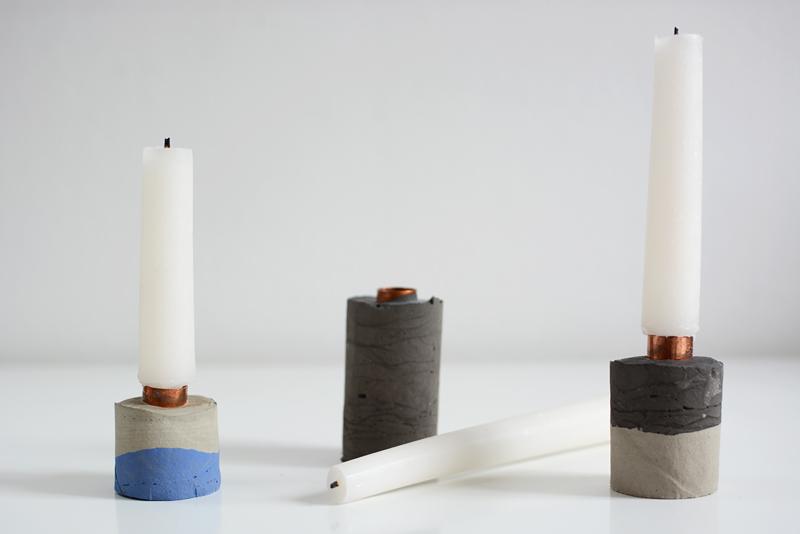 Concrete-Kerzenhalter DIY | we love handmade
