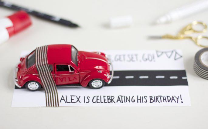 Einladung mit VW |we love handmade