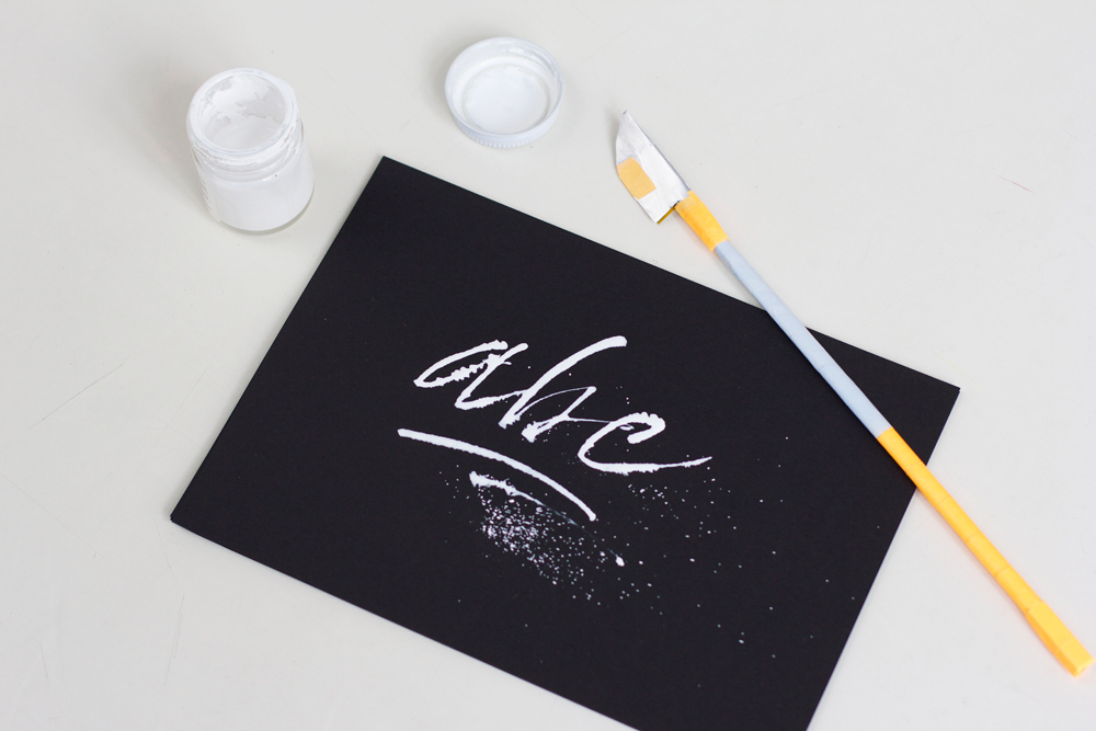 Kalligraphie DIY: Cola Pen | we love handmade