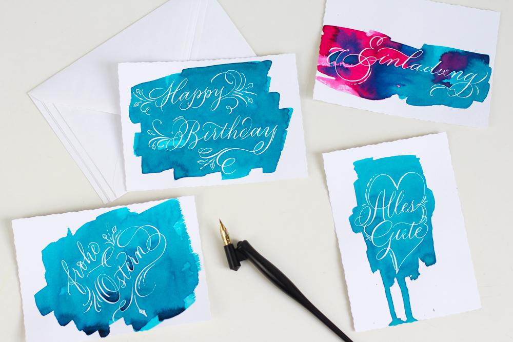 Kalligraphie DIY: Grußkarten |we love handmade