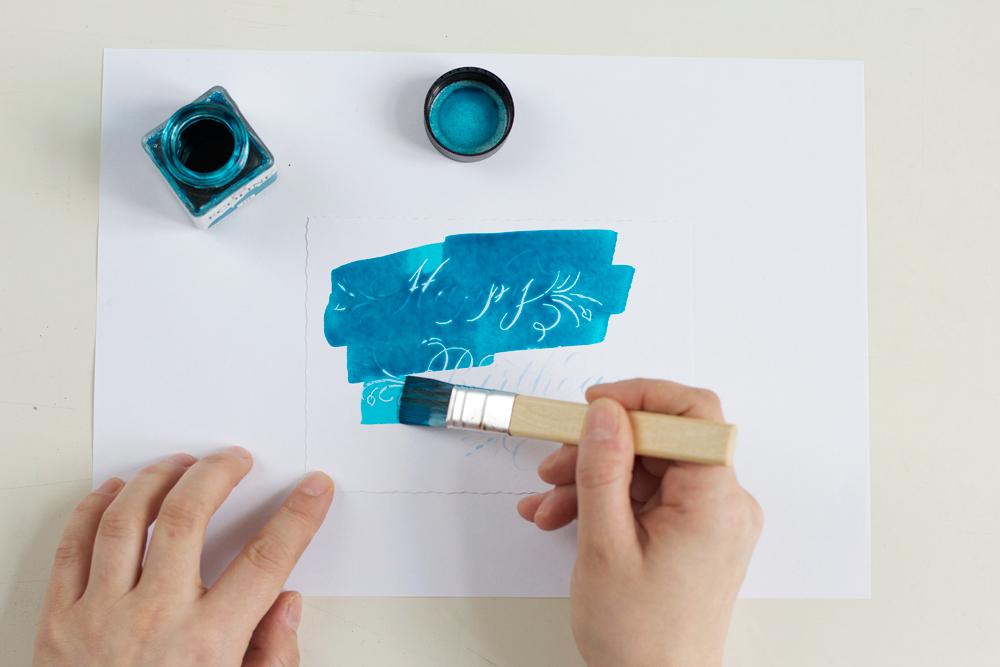 Kalligraphie DIY: Grußkarten mit Rubbelkrepp