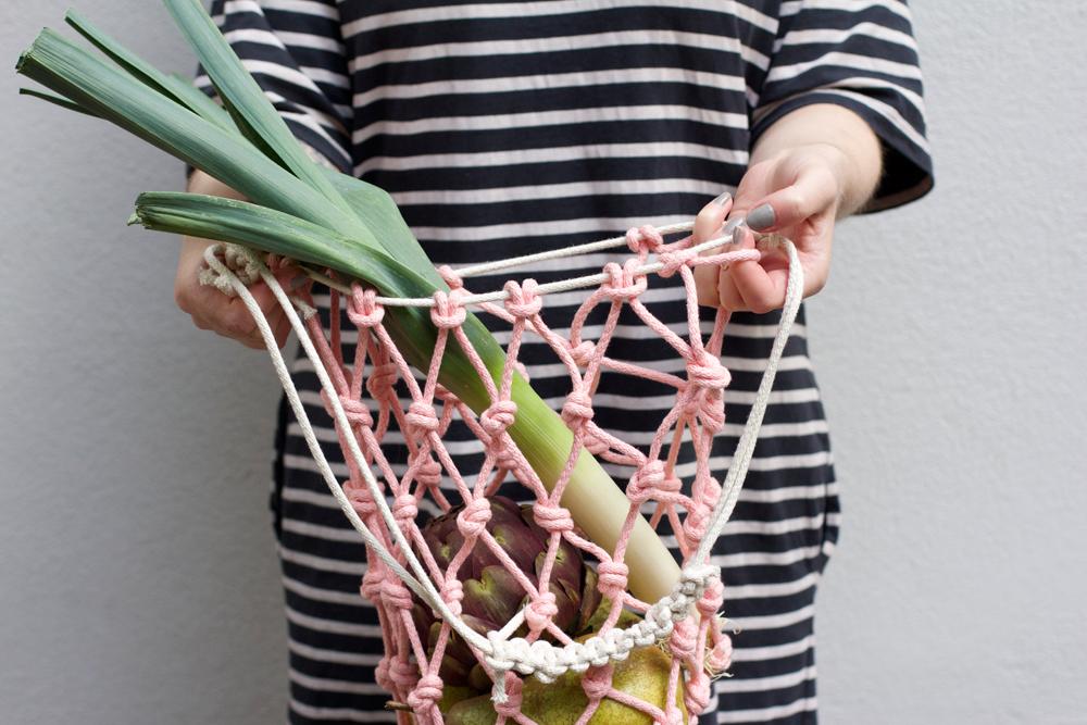 DIY: Einkaufstasche-Makramee | we love handmade