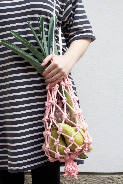 DIY: Einkaufstasche aus Makramee | we love handmade