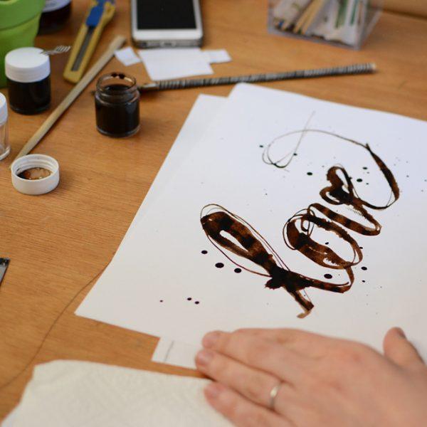 Experimentelle Kalligraphie: DIY |we love handmade