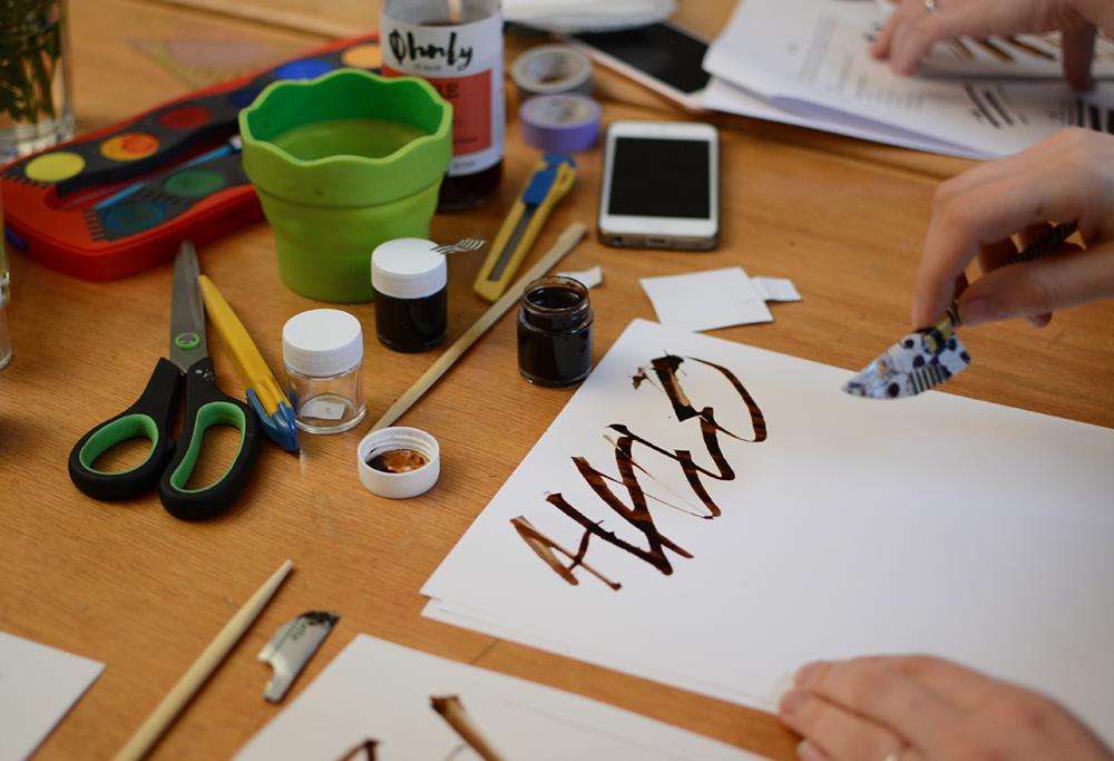 Experimentelle Kalligraphie Wien |we love handmade