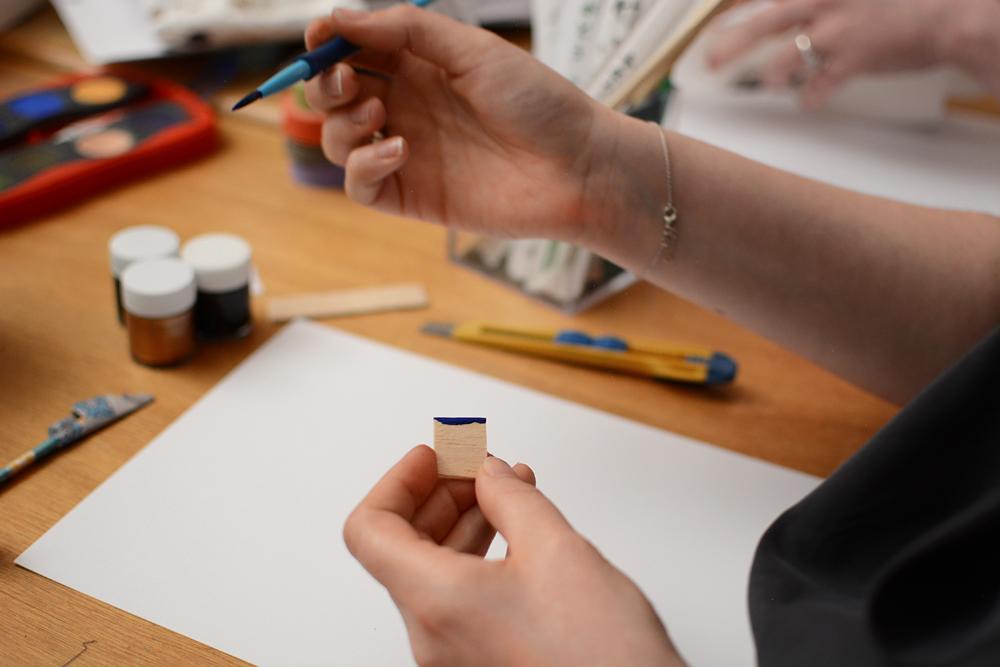 Experimentelle Kalligraphie: Balsaholz |we love handmade