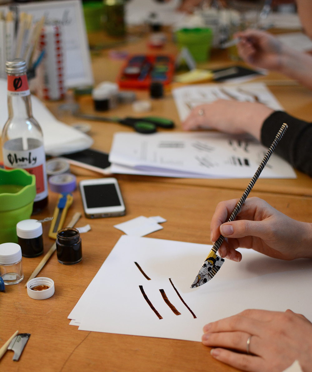 Experimentelle Kalligraphie: Workshop Wien | we love handmade