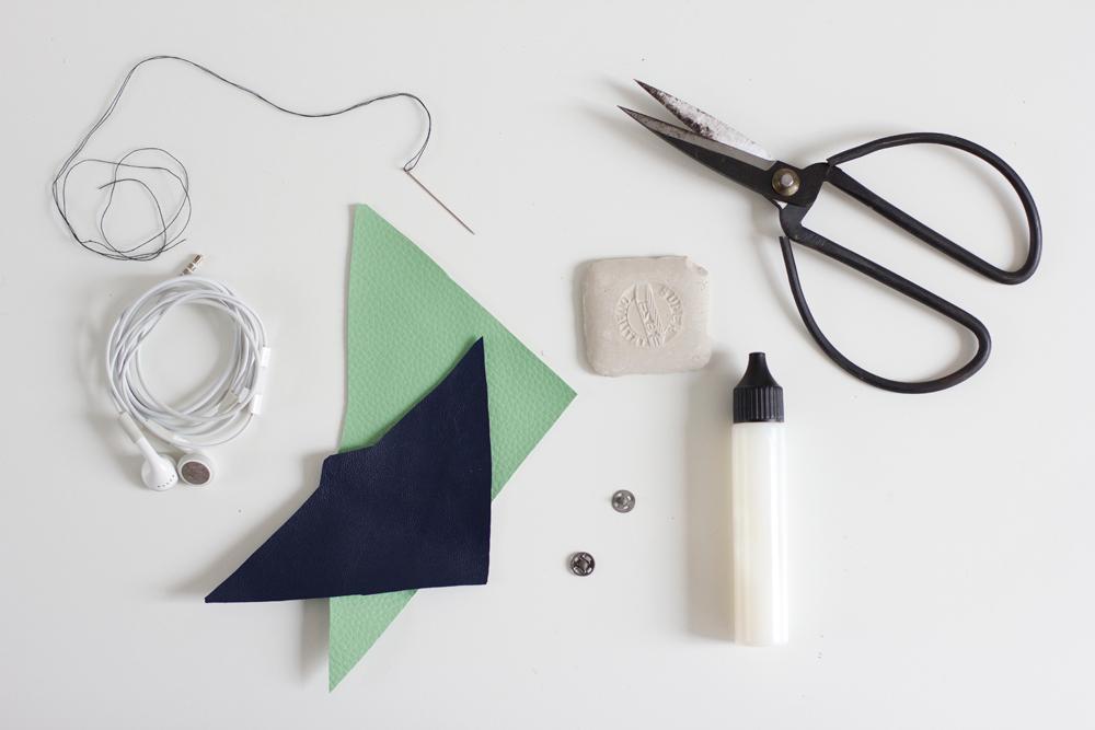 Kopfhörerhalter Material |we love handmade