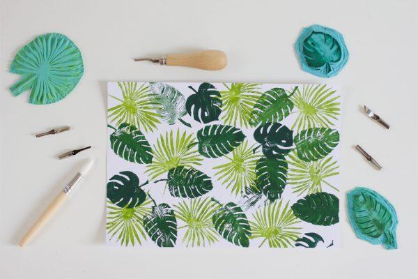 DIY: Stempel mit Palmenprint | we love handmade