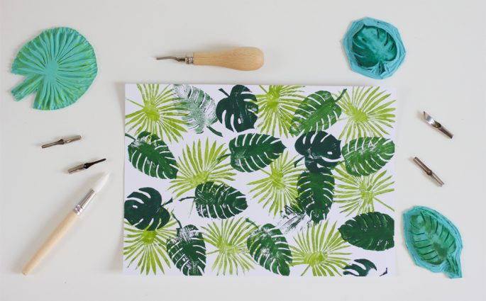 DIY: Stempel mit Palmenprint | we love handmade