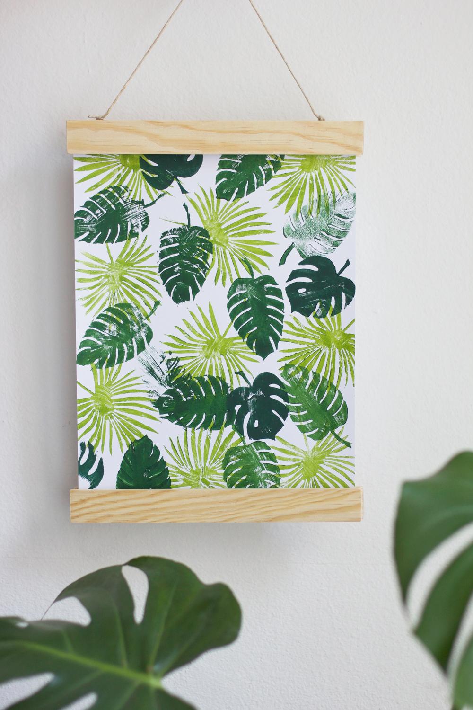DIY: Poster mit Palmenprints selber machen | we love handmade