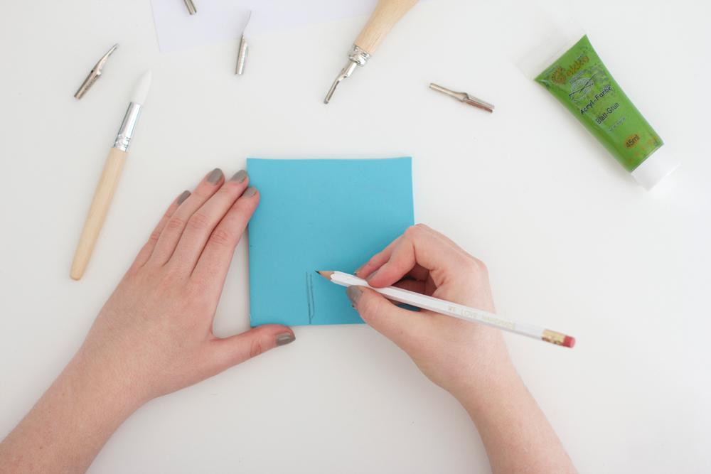 DIY: Motiv zeichnen für Stempel | we love handmade