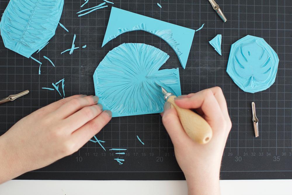 DIY: Motiv für den Stempel zuschneiden | we love handmade
