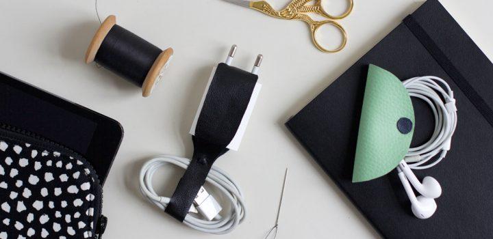 DIY: Kopfhörer- und Ladekabelhalter aus Leder