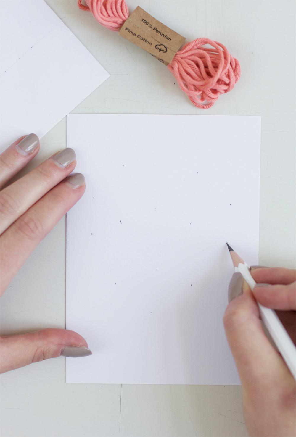 Bestickte Muttertagskarte | we love handmade