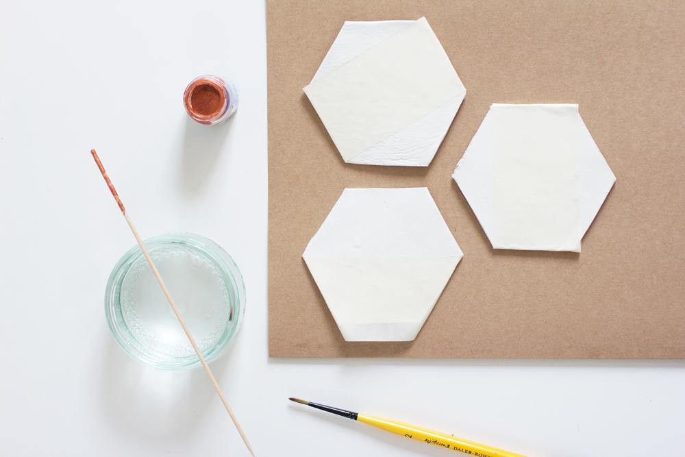 DIY: Hexagon-Untersetzer | we love handmade