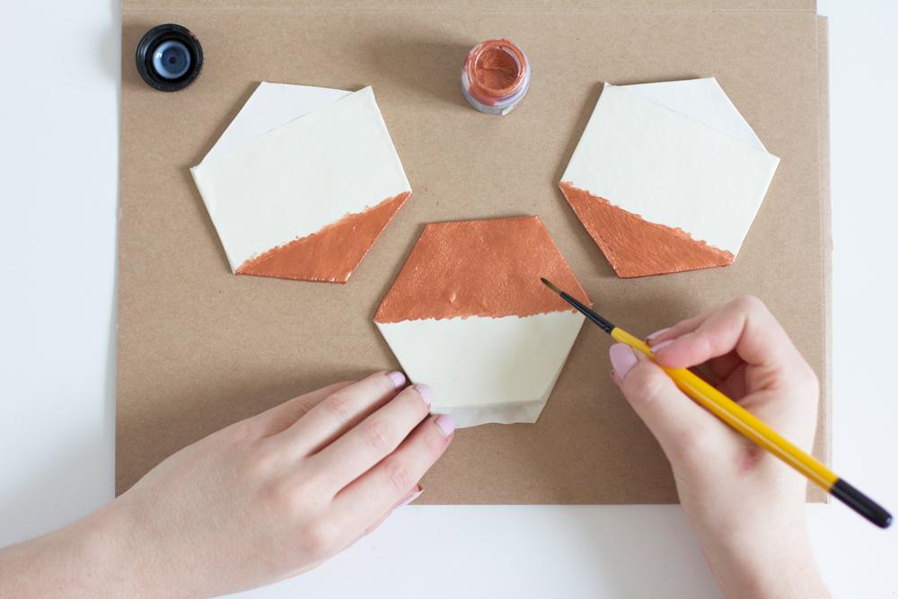 DIY: Hexagon-Untersetzer selber machen | we love handmade