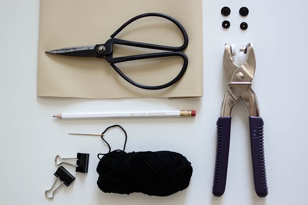 Leder-Täschchen Material |we love handmade