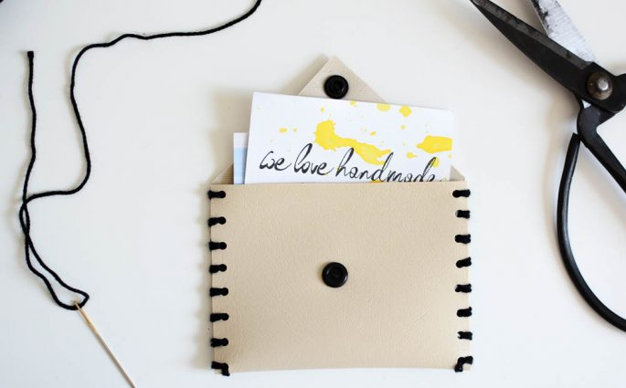 Leder-Täschchen DIY | we love handmade