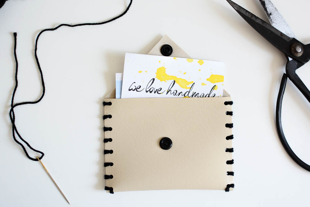 Leder-Täschchen DIY |we love handmade